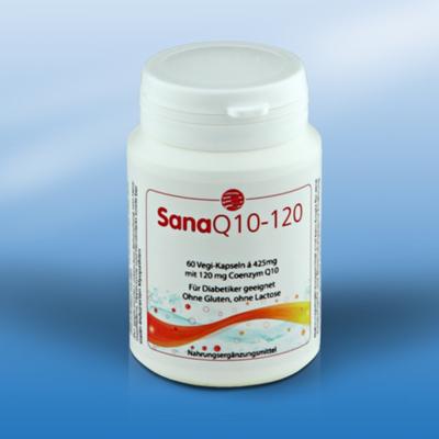 SanaQ10 120 mg  60 capsules