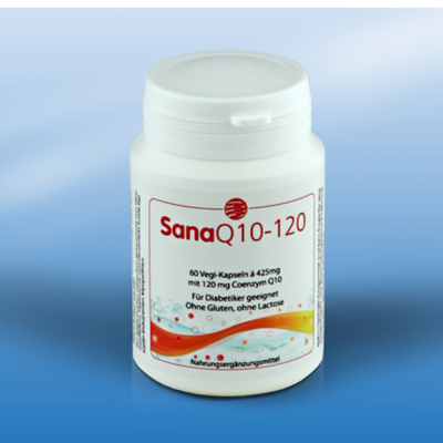 SanaQ10 120 mg. 120 capsules